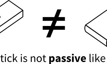 A USB stick is not passive like a book.