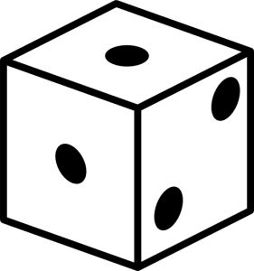 a dice with two '1' face