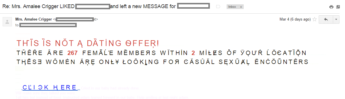 """Ze Foreign Accent"" spam: This is not a dating offer!"