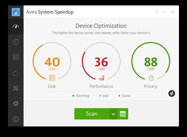 Avira System Speedup - Device optimization