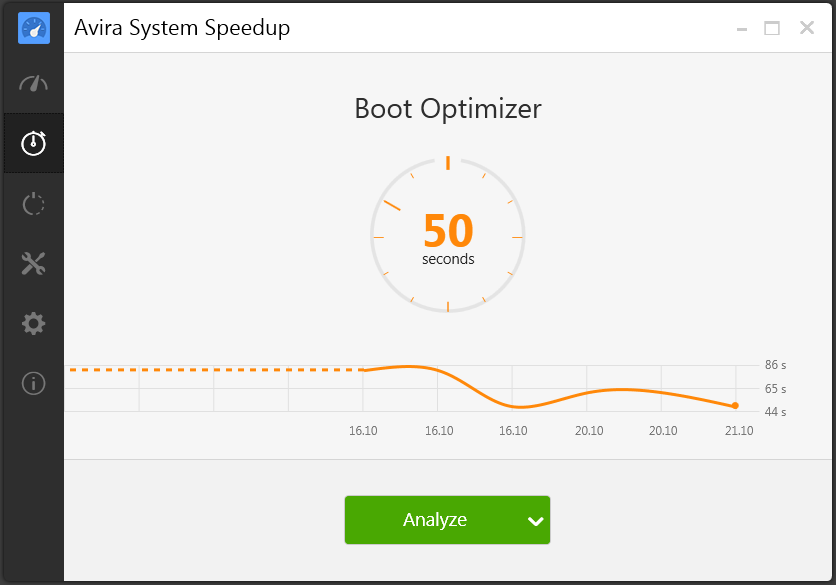 Avira System Speedup - Boot optimizer