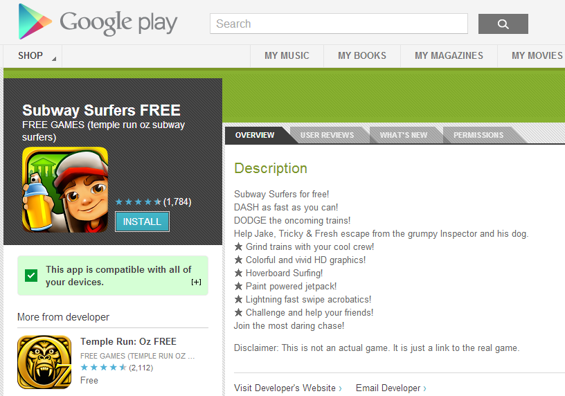 google-play-fake-app