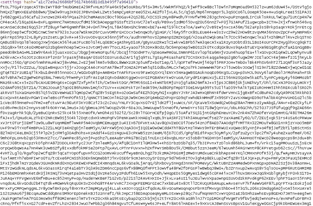 Encrypted Dridex settings file