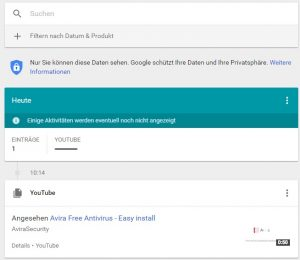 Privatsphäre: Google Meine Aktivitäten zeigt Ihnen gesammelte Daten
