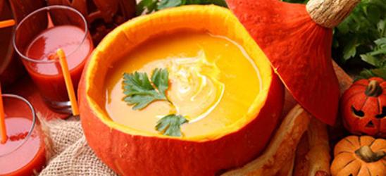 halloween kuerbissuppe pumpkin soup