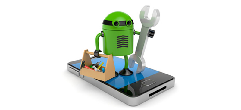 Mobile phone with robot, Appareil Android, dispositivo Android