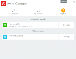 Avira Connect - My devices