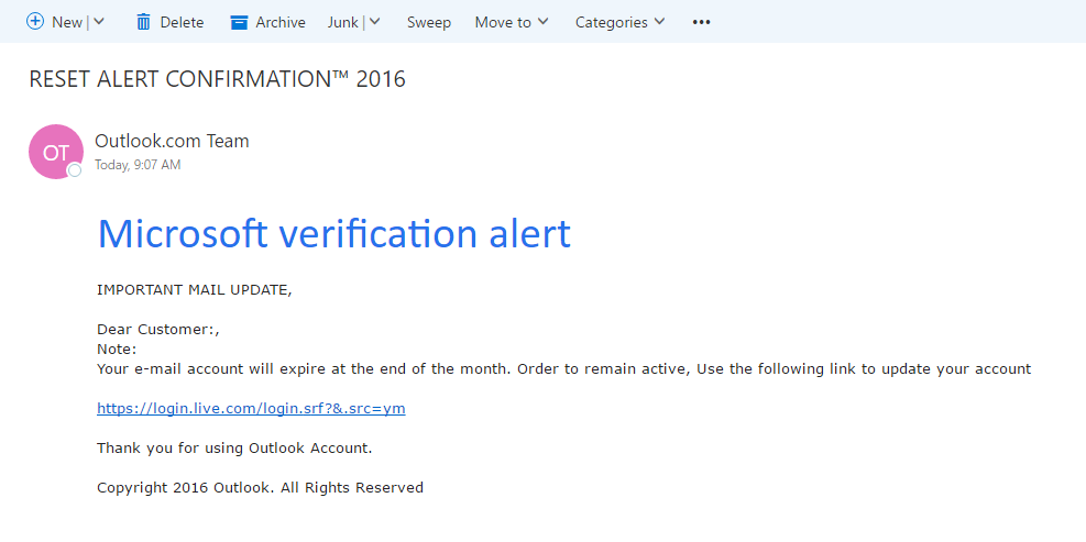 Phish - Phishing email