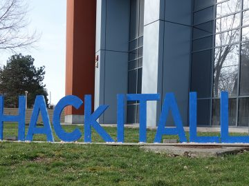 HackITAll hackathon - 60 students, 20 teams, 3 winners, 1 Polly