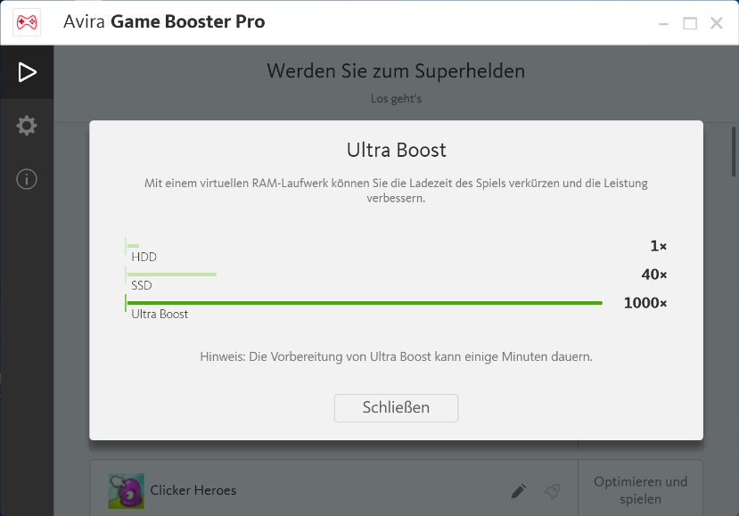 Magischer Spielspaß mit Avira Game Booster - in-post Ultra Boost