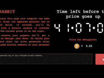 Bad Rabbit - the not so cute ransomware