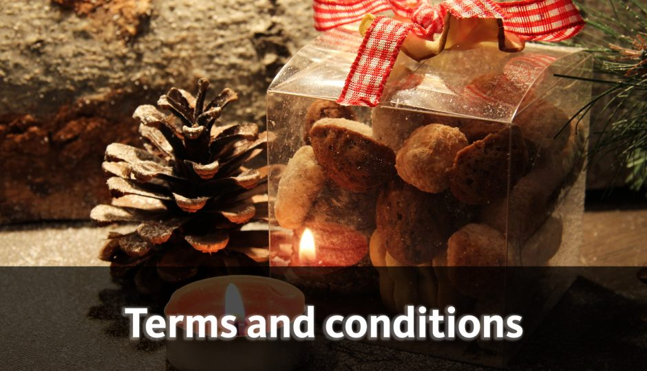 Sweeten your winter time - with our Advent calendar raffle! - terms and conditions