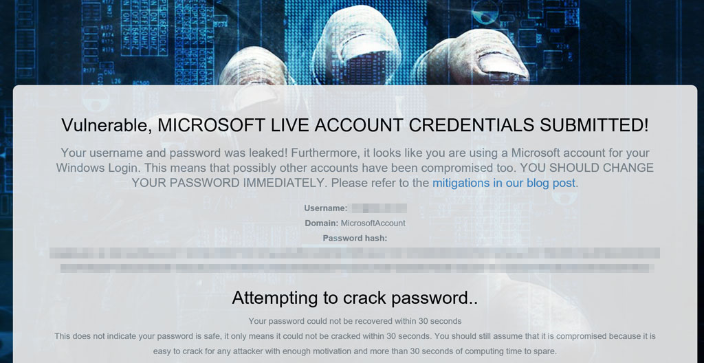 Attempt to crack password