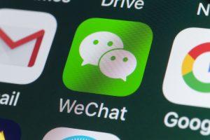 Eine der weniger privaten Chat-Apps: WeChat