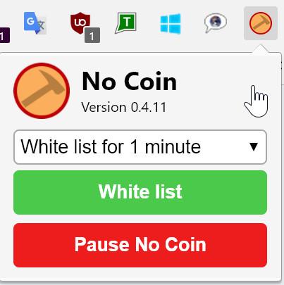 Browser-Erweiterungen wie No Coin warnen vor Webseiten, die Ihnen Rechenkraft abzwacken wollen.