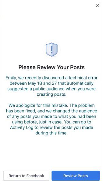 14 Millionen Nutzer betroffen: Facebook Bug machte private Posts öffentlich verfügbar - in-post details