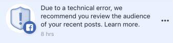14 Millionen Nutzer betroffen: Facebook Bug machte private Posts öffentlich verfügbar - in-post notifications