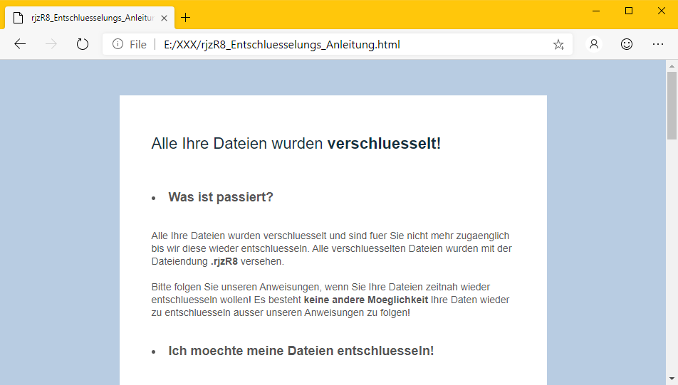 GermanWiper - Ransomware Note