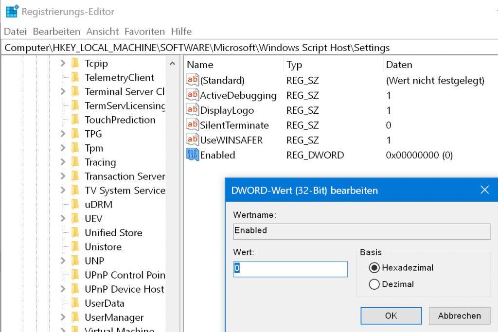 Schalten Sie den Windows Script Host ab, haben Makroviren keine Chance.