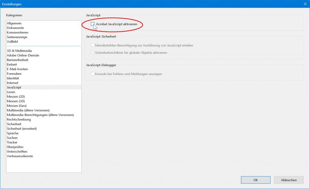 In Ihrem PDF-Programm sollten Sie JavaScript deaktivieren.