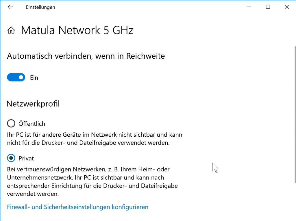 Der Netzwerktyp lässt sich unter Windows 10 nicht mehr wie gewohnt ändern, es ist ein Umweg über die PC-Einstellungen nötig.