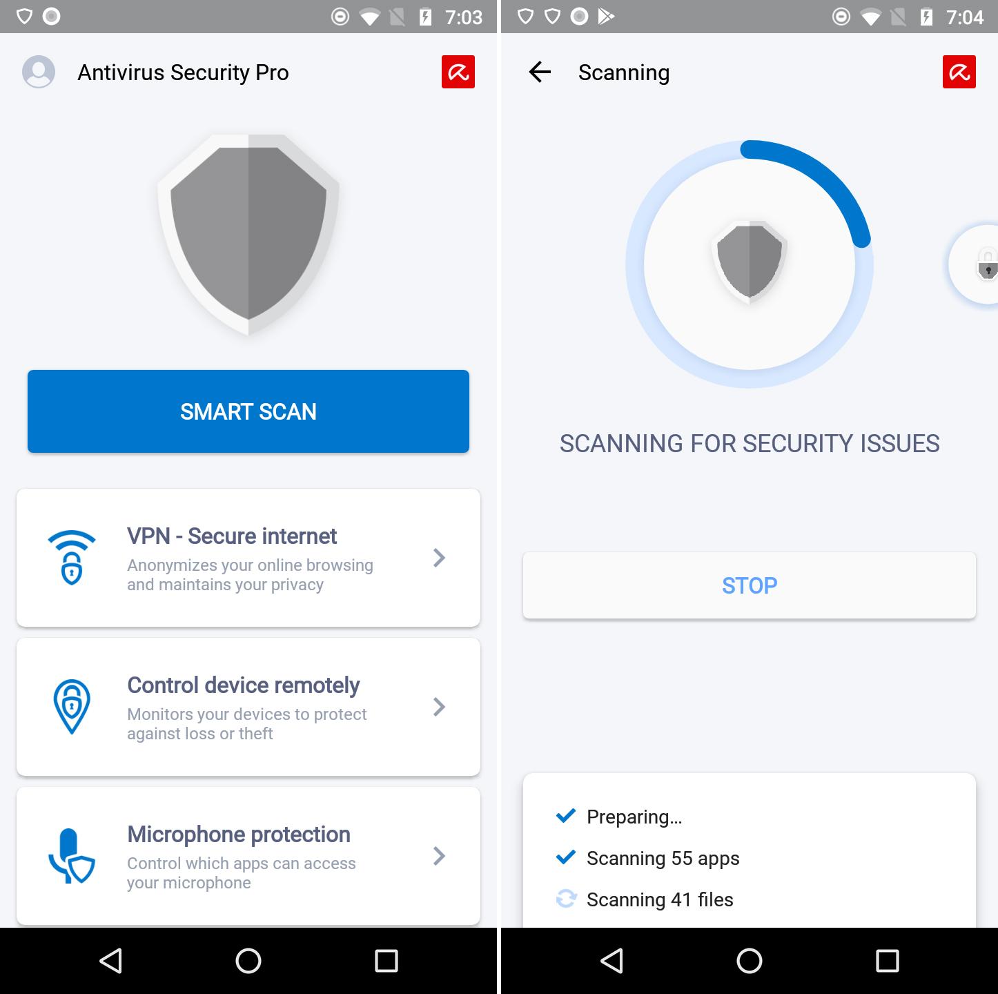 Avira Antivirus Security für Android: Beste Bewertung in allen Testkategorien.