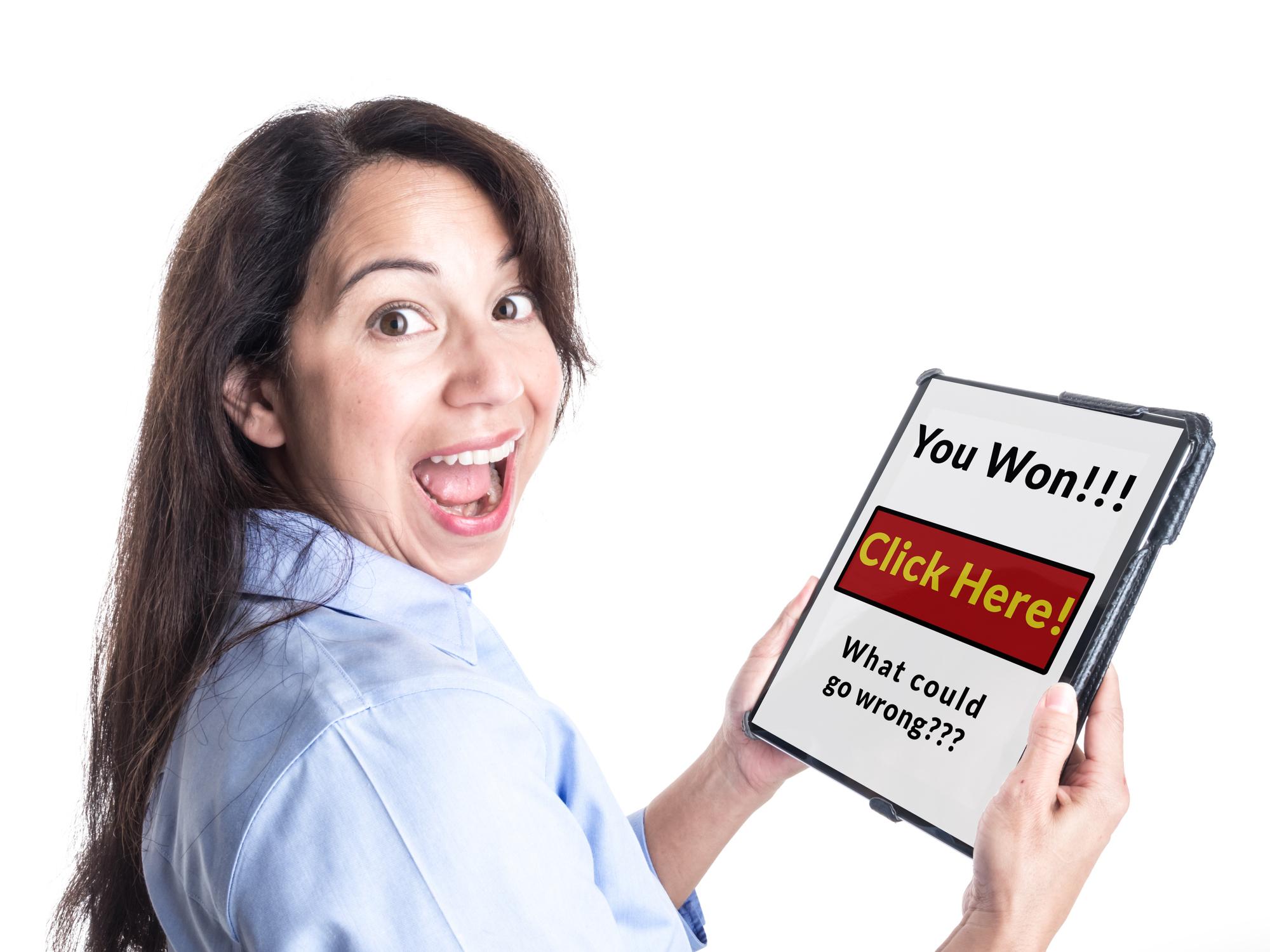 Phishing: Die Nachrichten versprechen einem oft große Gewinne