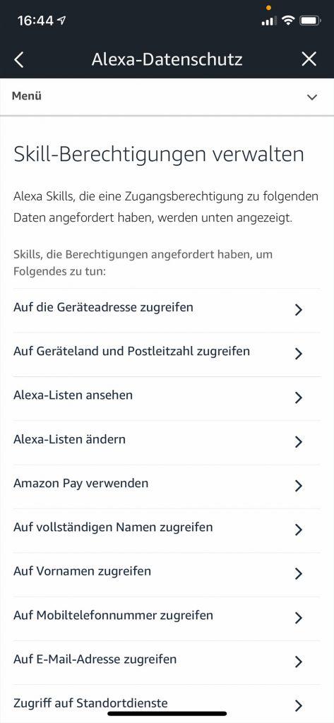 Amazon Alexa: Skills verwalten