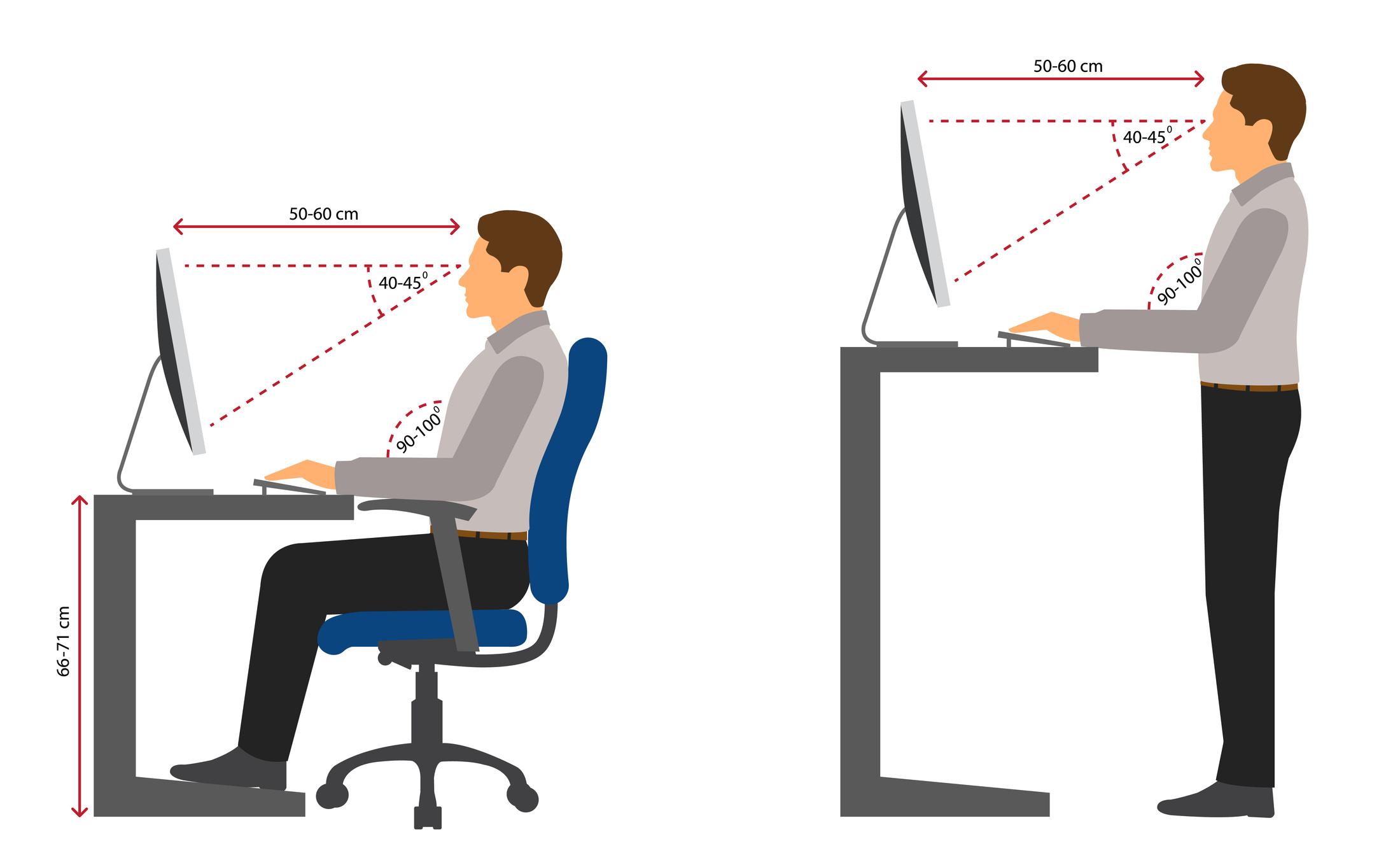 Nicht nur im Home Office: So sitzt und steht man richtig vor dem PC
