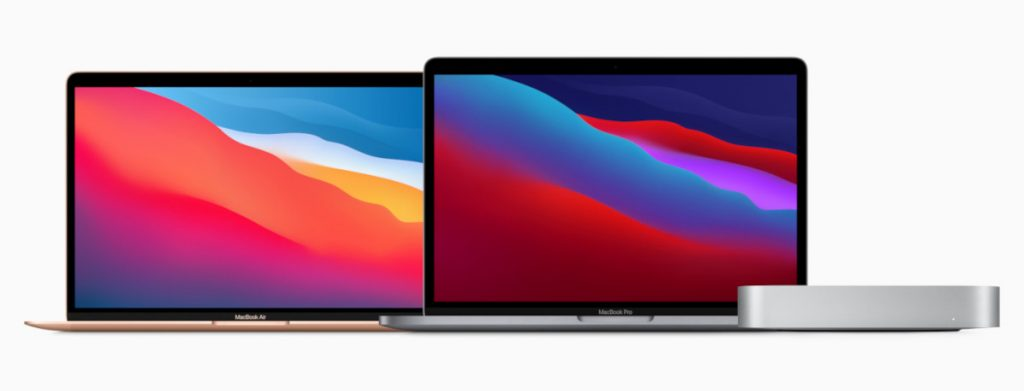 The 2020 editions of MacBook Air 13-inch, MacBook Pro, and Mac mini, powered by the M1 chip (source: Apple Newsroom).