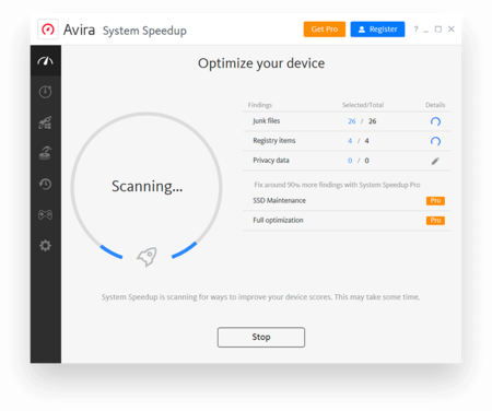 Avira's PC optimizer is your free computer cleaner