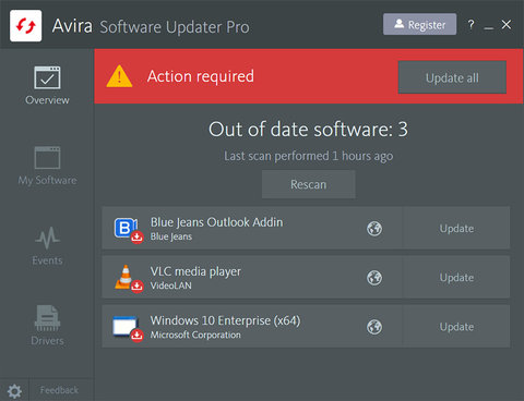 Avira Software Updater Pro Screenshot