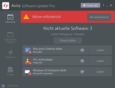 Avira Software Updater Pro Screenshot
