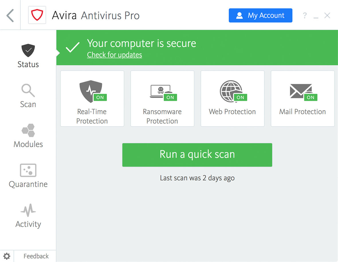 Download Antivirus Pro 2019 for Windows & Mac