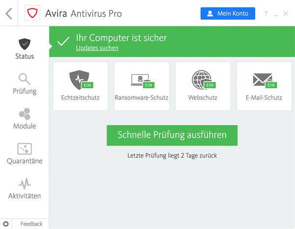 Avira Antivirus Pro Screenshot
