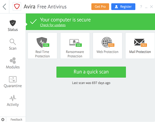 Avira free antivirus review.