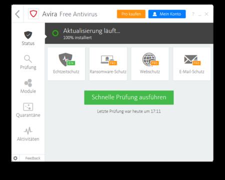 Avira Free Antivirus Screenshot