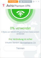 Avira Free Phantom VPN Mac Screenshot