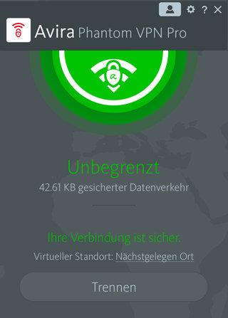 Avira Phantom VPN Pro Screenshot
