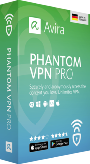 Avira Phantom VPN Pro: protection with unlimited data
