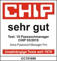 Chip.de Passwortmanager Test Sehr Gut