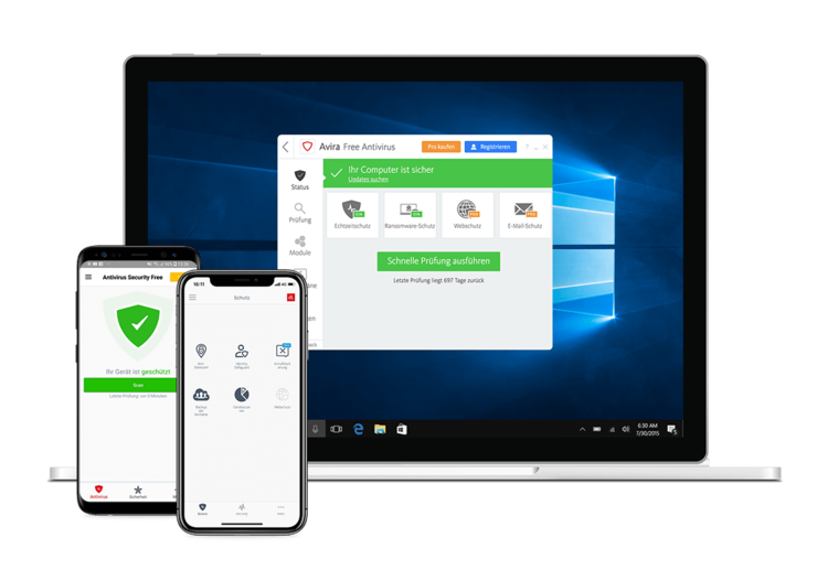 Avira Antivirus Windows Geräte