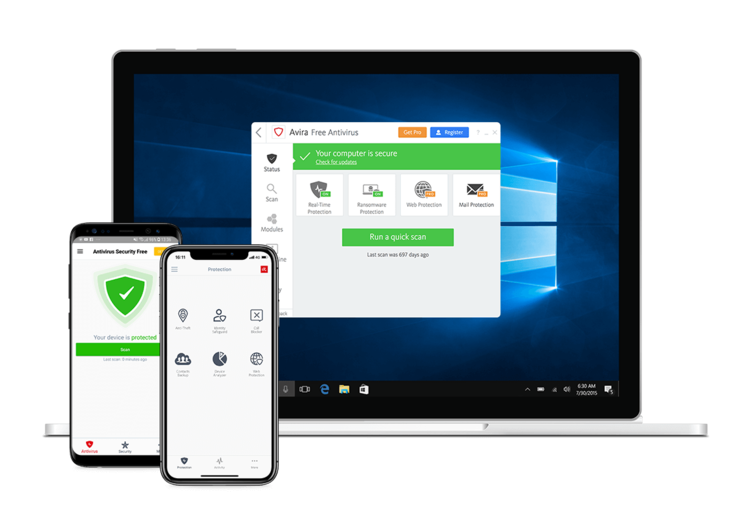 Avira Antivirus Windows Devices