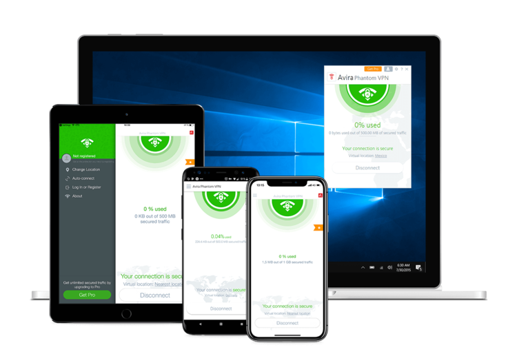 Avira Phantom VPN Windows Devices