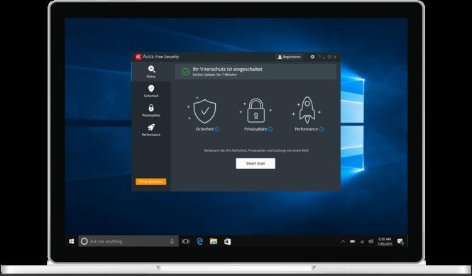 Avira Antivirus Windows Screenshot