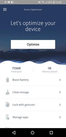 Avira Android Optimizer Screenshot