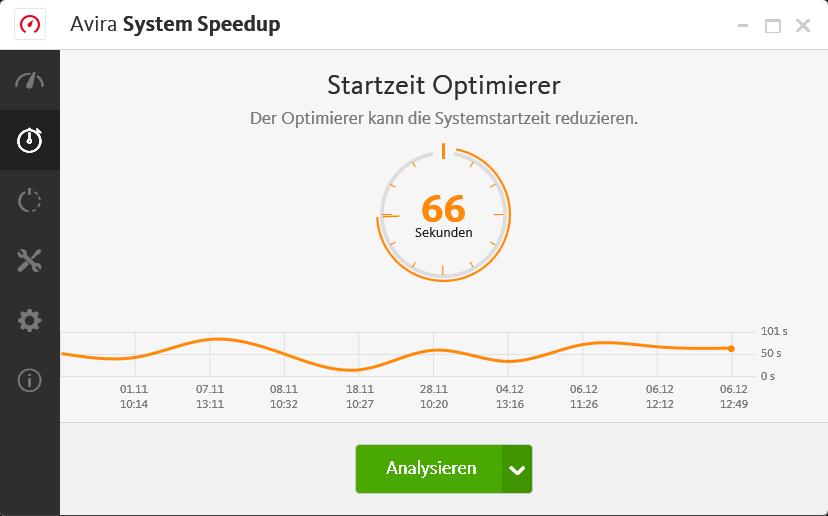 Startzeit Optimierer um Ihren PC-Start bis zu 77% zu beschleunigen.